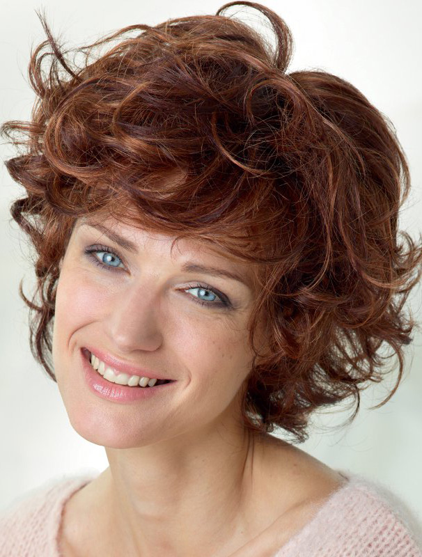 "Auburn Curly 10"" With Bangs Lace Front Wigs"