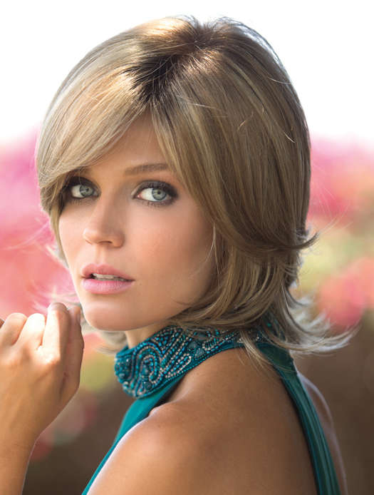 Layered Blonde Monofilament Wavy Synthetic Wigs
