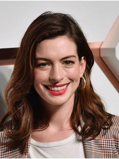 """Ombre/2 Tone Long Wavy Without Bangs Synthetic 16"""" Soft Anne Hathaway Wigs"""