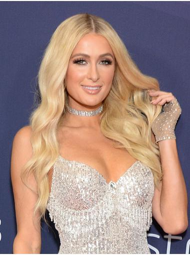 """Blonde Long Wavy Without Bangs Synthetic 22"""" Fashionable Paris Hilton Wigs"""