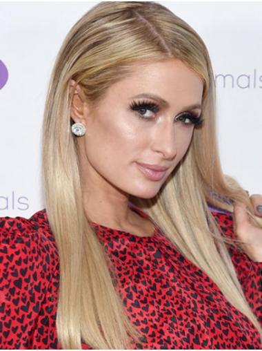 """Blonde Long Straight Without Bangs Synthetic 18"""" Designed Paris Hilton Wigs"""