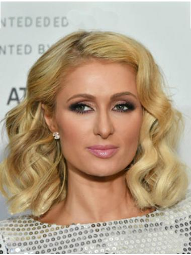 "Blonde Long Wavy Without Bangs Synthetic 14"" Flexibility Paris Hilton Wigs"