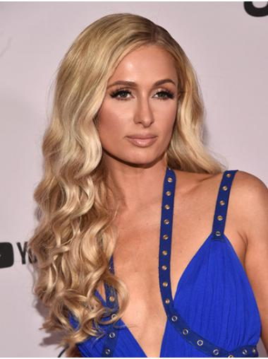 "Blonde Long Wavy Without Bangs Synthetic 24"" Fabulous Paris Hilton Wigs"