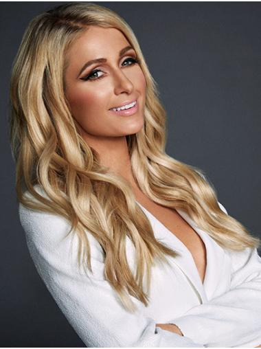 """Blonde Long Wavy Without Bangs Synthetic 20"""" High Quality Paris Hilton Wigs"""
