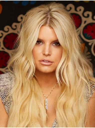 "Blonde Long Wavy Layered Synthetic 24"" Ideal Jessica Simpson Wigs"