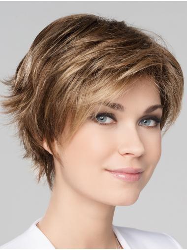 "Blonde 8"" Boycuts Short New Monofilament Wigs"