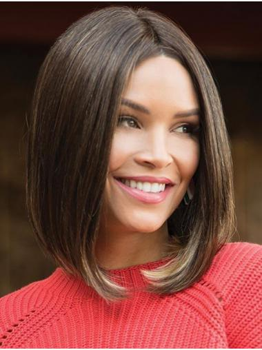 "14"" Shoulder Length Synthetic Brown Amazing Bob Wigs"