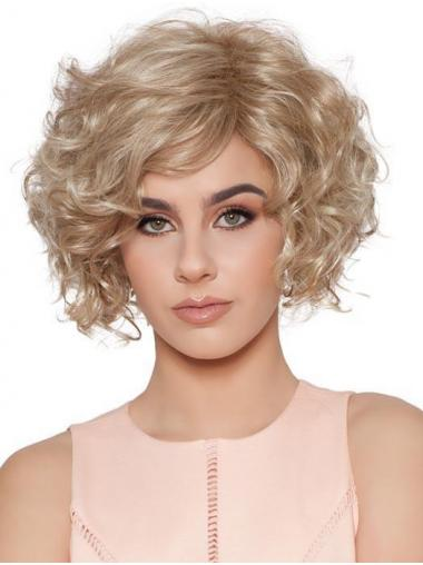 Capless Blonde Convenient Curly Short Classis Wigs