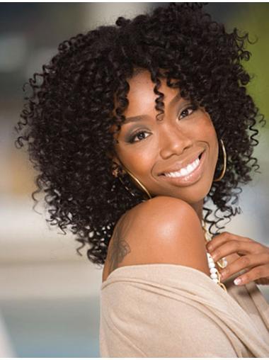Black Afro Curly Comfortable Jennifer Hudson wigs
