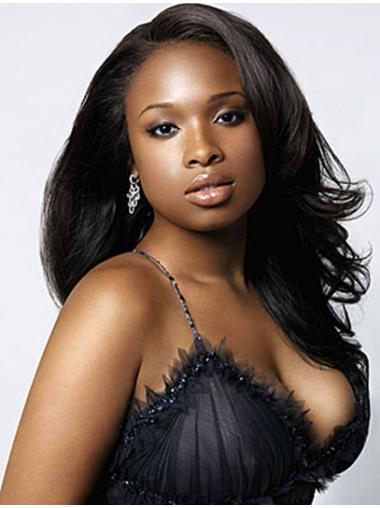 Black Without Bangs Wavy Great Jennifer Hudson wigs