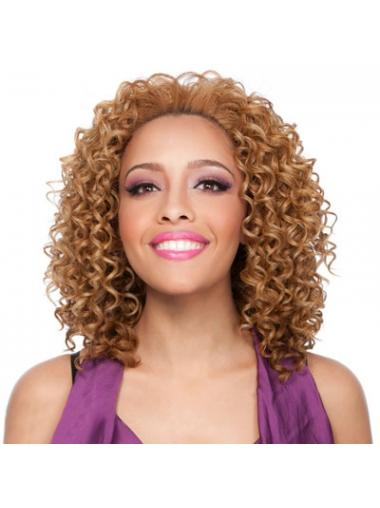 Brown Afro Curly Fashionable African American Wigs