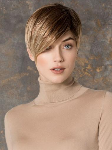 Straight Blonde Boycuts Exquisite Petite Wigs