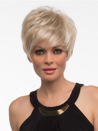 Straight Blonde With Bangs Incredible Synthetic Wigs
