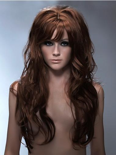 Auburn Synthetic Wavy Ideal Long Wigs