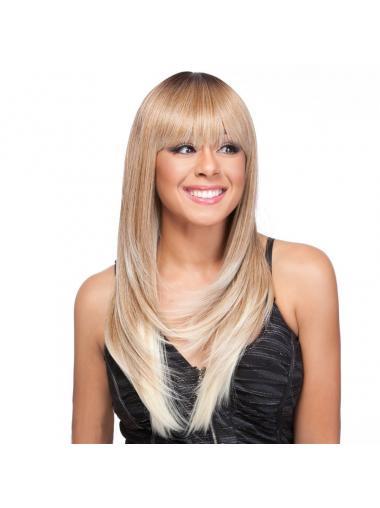 Straight Blonde 100% Hand-tied Sassy Celebrity Wigs