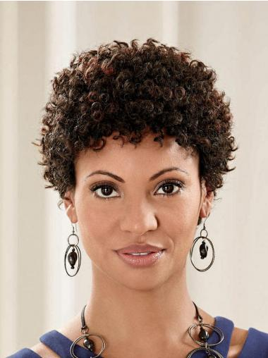 Brown Classic Curly Comfortable Short Wigs