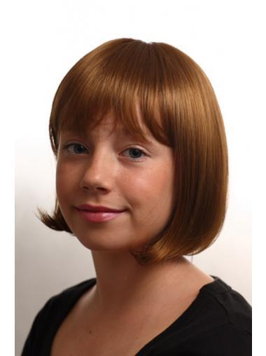 Auburn Straight Stylish Kids Wigs