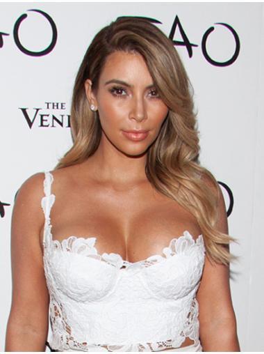 Wavy Blonde Layered Affordable Kim Kardashian wigs
