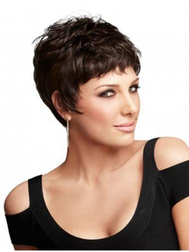 Boycuts Auburn Wavy Great Short Wigs
