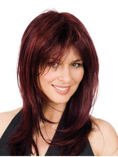 Red Layered Wavy Online Glueless Lace Wigs