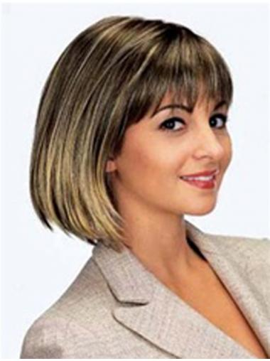 Brown Bobs Straight Online Medium Wigs