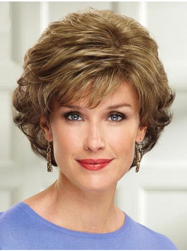 Blonde Wavy Layered Fashionable Synthetic Wigs