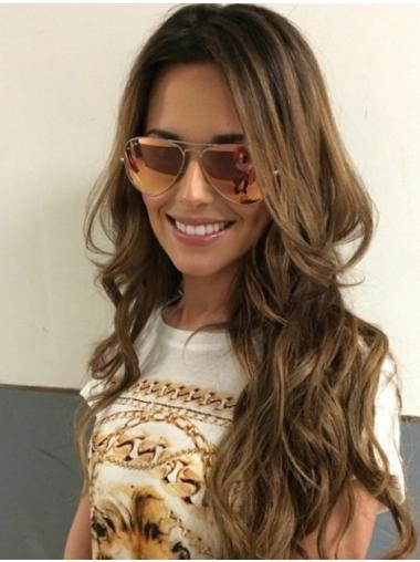 Wavy Brown Layered Gorgeous Cheryl Cole wigs