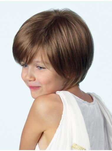 Straight Brown Layered Best Kids Wigs