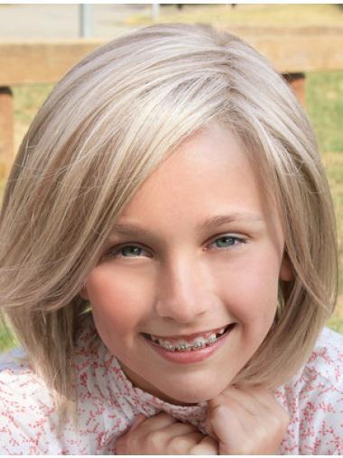 Blonde Layered Straight Perfect Kids Wigs