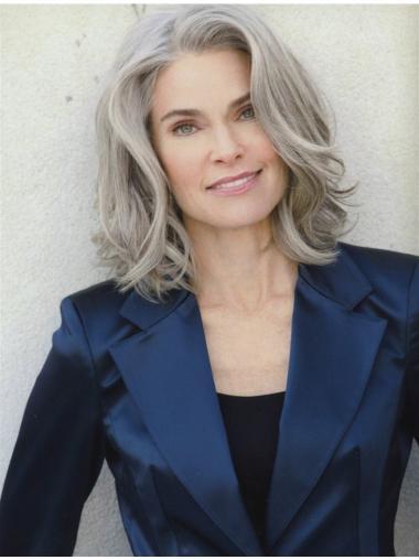 Short Curly Trendy Grey Wigs Cheap Grey Wigs For Older Women