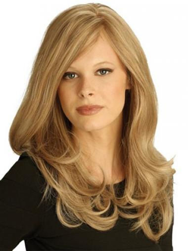 Exquisite Blonde Layered Wavy Long Wigs