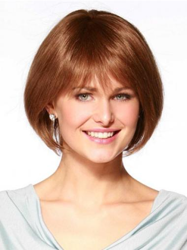 Bobs Straight Auburn Sleek Medium Wigs