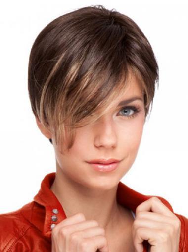 Boycuts Auburn Straight Convenient Celebrity Wigs