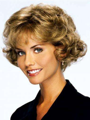 Curly Blonde Layered Discount Classic Wigs