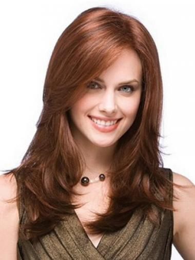 Straight Layered Auburn Fabulous Long Wigs