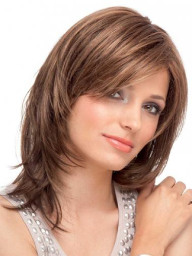 Lace Front Auburn Straight Convenient Medium Wigs