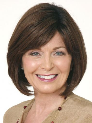 Brown Bobs Straight High Quality Medium Wigs