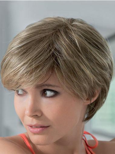 Blonde Straight Gorgeous Short Wigs
