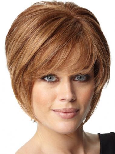 Auburn Bobs Straight Trendy Celebrity Wigs
