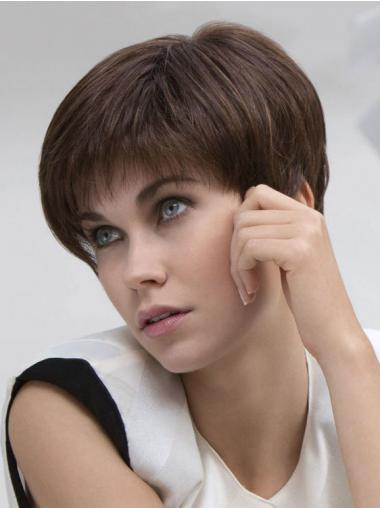 Straight Brown Boycuts Beautiful Short Wigs