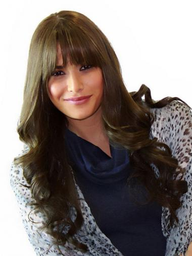Brown Remy Human Hair High Quality Long Wigs