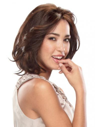 Wavy Auburn Bobs Cheapest Remy Human Lace Wigs