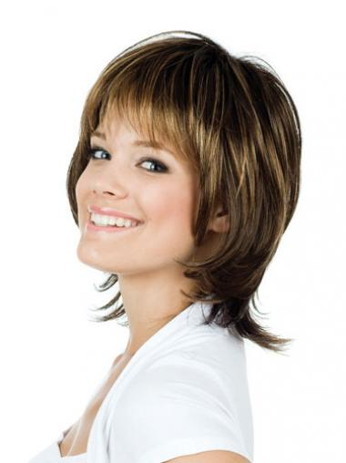 Straight Brown Lace Front Fabulous Medium Wigs