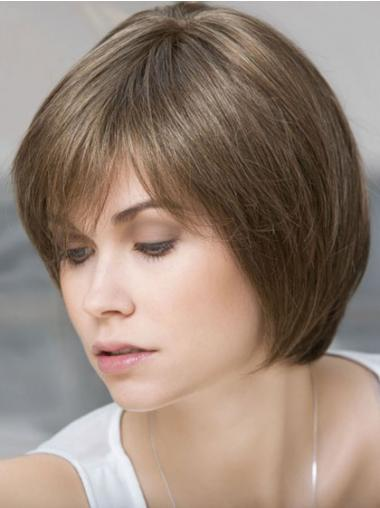 Bobs Straight Brown Fashionable Short Wigs
