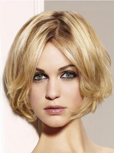 Bobs Blonde Wavy Discount Medium Wigs