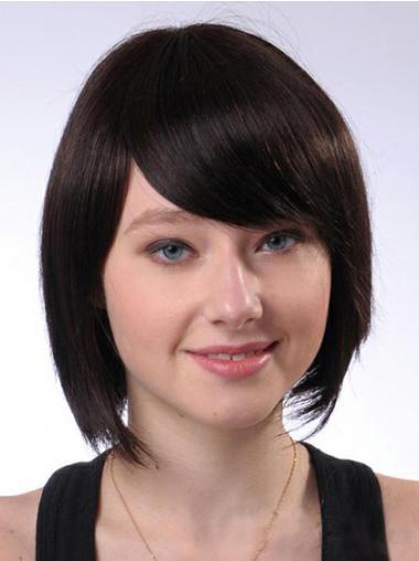 Brown Bobs Straight New Human Hair Wigs