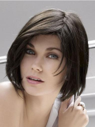 Straight Bobs Black Trendy Celebrity Wigs