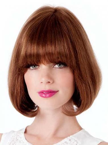 Straight Auburn Bobs High Quality Medium Wigs