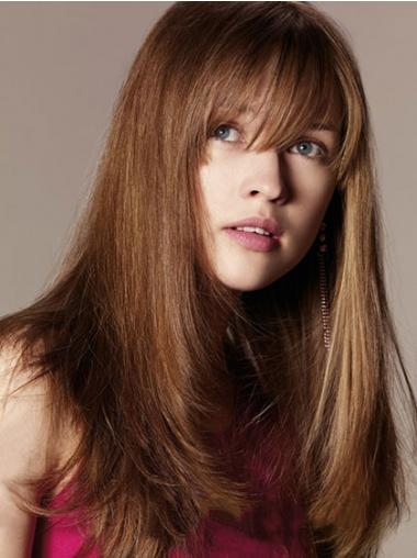 With Bangs Auburn Straight New Human Hair Wigs