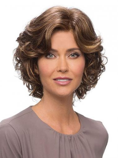 Brown Lace Front Wavy Beautiful Classic Wigs